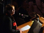 Premier Lara Giddings presiding before helping with a song.